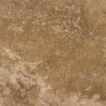 Травертин полированный заполненный цементной замазкой темно-бежевый